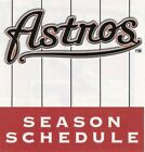 1980's to 2000's MLB Houston Astros Baseball Schedule - U-Pick From List on Ebay