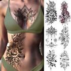 Purple Rose Jewelry Water Transfer Tattoo Stickers Women Body Chest Art Temporar $4.41 USD on eBay