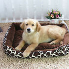 Dog Bed Soft Washable Fleece Fur Removable Cushion Warm Luxury Pet Basket UK