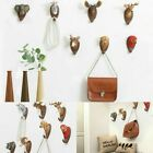 Animal Head Hook Robe Clothes Hat Hanger Key Holder Wall Retro Ornament Kit New