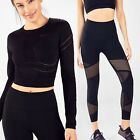 FABLETICS Outfit Black Crop Top & Legging Seamless Jaymee 2 Piece Circuit Set