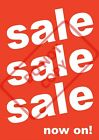 SALE NOW ON POSTERS - SHOP WINDOW SIGN BANNER - FREE UK P&P a