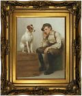 Brown Mutual Admiration 1898 Wood Framed Canvas Print Repro 11x14