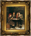 Brown Tough Customers 1881 Wood Framed Canvas Print Repro 11x14
