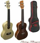 Brunswick Ukulele Concert Mahogany or Maple Finish. With or Without TGI Gig bag