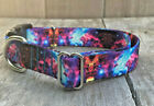 1 inch Colorful Galaxy Cosmic Adjustable Dog Collar with Quick Release Buckle