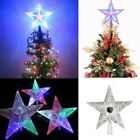 S/M/L LED Light Up Christmas Tree Topper Star Ornaments Party Home Decor Gift