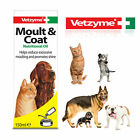 Vetzyme Moult & Coat Oil Dog & Cat Reduces Excessive Moulting & Promotes Shine