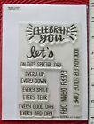 SENTIMENTS themed Clear Stamp set cut dies  words phrases thanks stamps  (E70)