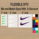 3 Nike Iron On Swoosh Logos 2 Inches Heat Transfer Vinyl HTV
