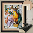 """32Wx40H"""" LIBYAN SIBYL by MICHELANGELO BUONARROTI - DOUBLE MATTE, GLASS and FRAME"""