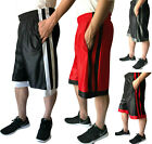 Mens Athletic Workout Fitness Basketball Sports Run Gym Shorts With 2 Pockets