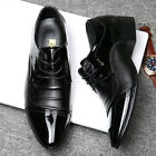 Black Mens Dress Formal Leather Shoes Pointy Toe Work Office Oxfords Party New D