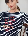 Joules Womens Harbour Print Long Sleeve Jersey Top Shirt  NAUGHTY LIST