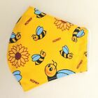 Kids Cotton Fabric Face Mask, Filter Reusable Washable Childrens Face Coverings
