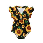 US Summer Toddler Baby Girl Clothes Sunflower Romper Jumpsuit Outfit Sunsuit
