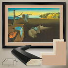 "44Wx32H"" THE PERSISTANCE OF MEMORY by SALVADOR DALI -DOUBLE MATTE, GLASS & FRAME"