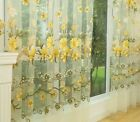 Window Curtains Floral Panels Home Decoration Treatment Drapes Sheer Curtain New