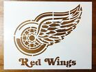 Detroit Red Wings Custom Stencil FAST FREE SHIPPING $14.99 USD on eBay
