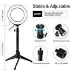 "10"" LED Ring Light Lamp Phone Selfie Camera Studio Video Dimmable Tripod Stand"