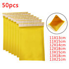 GOLD PADDED BUBBLE ENVELOPES BAGS POSTAL WRAP - 50-PACK - SET VARIOUS SIZES SACK