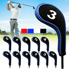12pcs/set Golf Clubs Head Covers Headcovers With Zipper Long Neck Protect UK