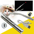 Interactive Pet Cat Toy Laser Pointer USB Charging LED Light Pen Flashlight