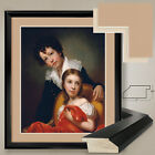 "32W""x38H"": MICHAEL AND EMMA CLARA by REMBRANDT P - DOUBLE MATTE, GLASS and FRAME"