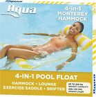 AQUA 4-in-1 Monterey Hammock Inflatable Pool Float Multi-Purpose Pool Hammock