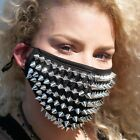Spikes Studded Half Face Mask Face Covering Reusable with built in Replaceable