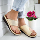 Womens Ladies Comfy Bunion Corrector Sandals Slippers Fashion PU Leather Shoes