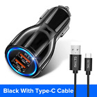 18W 3.1A Car Charger Quick Charge 3.0 Universal Dual USB w/ Fast Charging Capabi