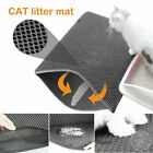 Home Double Layer Dog Cat Litter Box Mat Trapper Foldable Pad Pet Toilet Rug Pad