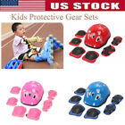 6Pcs Children Skating Protective Gear Wrist Elbow Knee Pads Sport  Kids Safety image