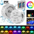 Underwater RGB LED Light with Remote Swimming Pool Pond Vase Hot Pub Aquarium $14.95 USD on eBay
