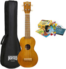 Mahalo Kahiko 'Learn 2 Play' Soprano Ukulele with Essentials Pack - Transparent