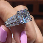 Women Gorgeous Jewelry 925 Silver Rings White Sapphire Wedding Ring Size 6-10