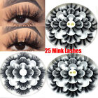 SKONHED 7 Pairs 25mm Lashes 8D Mink Hair False Eyelashes Fluffy Lashes New~