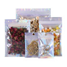 10pcs Aluminum Foil Packaging Zip Lock Bag Clear Laser Jewelry Bag Seal Pouchh$
