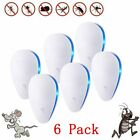 6Pcs Ultrasonic Pest Repeller Rat Mouse Mice Spider Insect Fly Mosquito UK Plug