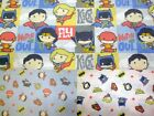 JUSTICE LEAGUE BABY SUPER HEROES licensed fabric 100% cotton patchwork fabric