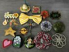 Costume Pin Brooch Lot Sparkle Dragonfly Bow