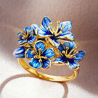 Gorgeous Women Rings 18k Yellow Gold Plated Wedding Jewelry Size 6-10