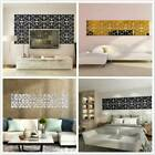 28pcs 3d Diy Mirror Tile Wall Stickers Decal Home Art Mural Decal Room Decor 6a