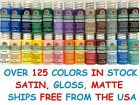 Apple Barrel Acrylic Paint Matte Satin Gloss 2 Oz 8 Oz - Build Your Color Set