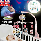 Baby Musical Crib Bed Bell Cot Mobile Moon & Star Dream Light Nusery Lullaby Toy