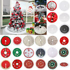 Christmas Tree Skirt Mat Party Snow Mat Cover Party Xmas New Year Decor 90-100cm