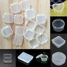 Mini Plastic Storage Boxes Clear Jewelry Beads Case Screw Coins Container Craft