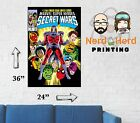Marvel Secret Wars #2 1984 Cover Wall Poster Multiple Sizes 11x17-24x36