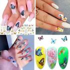 New Diy 3d Nail Stickers Vivid Butterfly Decals Transfer Art Nail Beauty L1u3